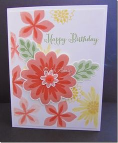 Stampin' Up! Flower Patch, Flower Fair framelits, photopolymer IMG_0278