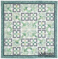 Paradise Lost quilt pattern: Two quilt blocks create a beautiful grove of trees in this lovely queen-size quilt pattern designed by Nancy Mahoney.