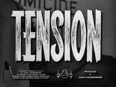 """This typeface was taken from the movie """"Tension"""" by John Berry, 1949. This lettering i thought was relative to the film because of the way the lettering is highly strung and stretched (much like the beginning of """"The Fly"""") and creates the atmosphere most important in a horror film such as this one."""