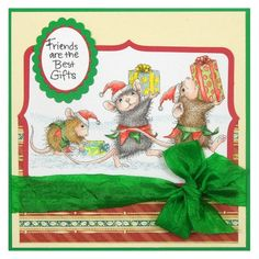 Elf Gifts Rubber Stamp