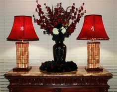Cork Table Lamps