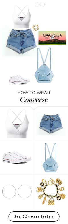 """""""Coachella '17 day 1"""" by hindrance on Polyvore featuring Levi's, Doublju, Converse, Chanel and MANU Atelier"""
