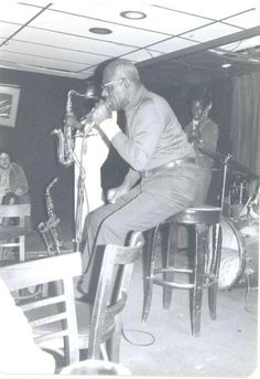 Another photo of Howlin Wolf and Eddie Shaw at the Jazz Workshop in Boston in the mid-1970's - Collection of Peter Jason Riley