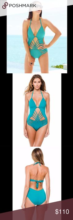 28a4be7b43f1 NEW Kenneth Cole  Macrame  Push-Up One-Piece Small NEW Kenneth Cole