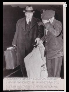 Ossining, N.Y. January 1946- Lucky Luciano  (wearing hat) arrives at Metro North Train Station to be transported down the road to Sing Sing Prison. From there, he was sent to Brooklyn's Bush Terminal to await deportation aboard the S.S Laura Keene.