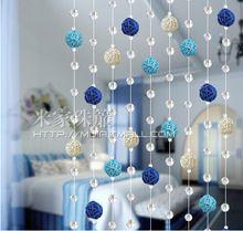 Envío libre producto Terminado 1 m bolas caña Rural cortina decoración cortina de cristal cortina de cuentas de cristal se puede personalizar(China (Mainland))