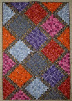 Wayne's Quilts: ShweShwe Diamonds