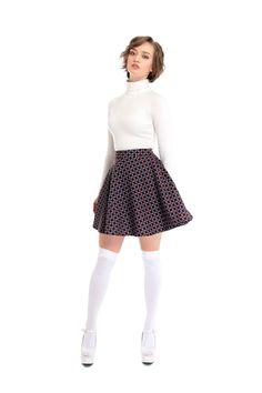 Bright & Beautiful Gail Aztec Leaf Skirt