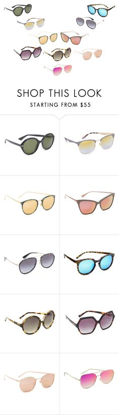 """""""10 sunglasses for best Outfit for this summer"""" by gadinarmada-1 ❤ liked on Polyvore featuring Gucci, Ray-Ban, Linda Farrow, Hadid Eyewear, Dolce&Gabbana, Quay, N°21 and Kendall + Kylie"""