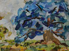 Torn paper art 9 x 12 Torn Paper, Paper Artwork, 2d, Gallery, Blue, Painting, Paper Art, Painting Art, Paintings