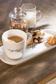 .Coffee and a sweet treat, that's for me!