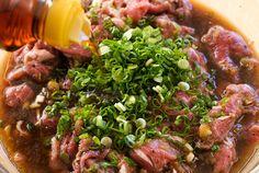 Bulgogi - real bulgogi marinade includes fruit, so I am very anxious to try this recipe!