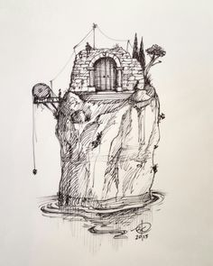 #inktober day 16  #sketch #ink #drawing #architecture #art #illustration