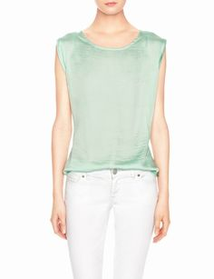 Satin & Knit Layering Top from THELIMITED.com