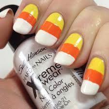 Yellow Orange AndWhite Nailss