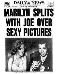 Years Since Marilyn Monroe Married Joe Dimaggio Stock Pictures, Royalty-free Photos & Images Joe Dimaggio, Newspaper Cover, Newspaper Headlines, Lauren Bacall, Portrait Studio, New York Pictures, New York Daily News, Hilario, Marilyn Monroe Photos