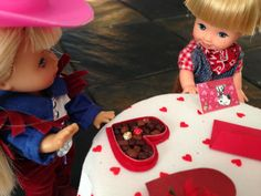 Exchanging valentines
