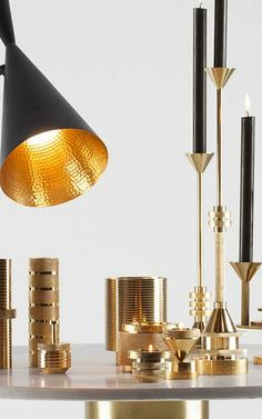 Tom Dixon  THE ALL-STAR BRITISH DESIGNER RELEASES HIS LATEST THROWBACK COLLECTION, ASSEMBLED FROM WHAT LOOK LIKE OLD FACTORY PARTS.