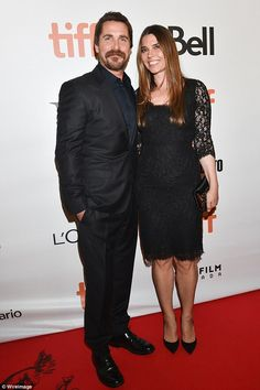 Dapper: Appearing on the red carpet with his wife Sibi Blazic, the pair put on a chic display in coordinating black ensembles