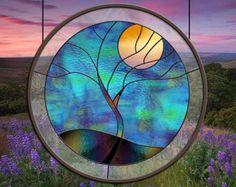 Deborah Flowing Tree in Moonlight Part II by stainedglassfusion