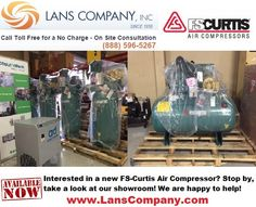 FS-Curtis Air Compressors in stock! www.LansCompany.com