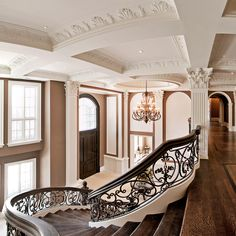 home & design - Gorgeous staircase Grand Staircase, Staircase Design, Double Staircase, Railing Design, Escalier Design, Victorian Homes, Victorian Stairs, Victorian Bedroom, Victorian Design