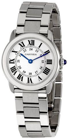Elevenfy | Cartier W6701004 Ronde Solo de Cartier Armbanduhr Damen Edelstahl Eleganz