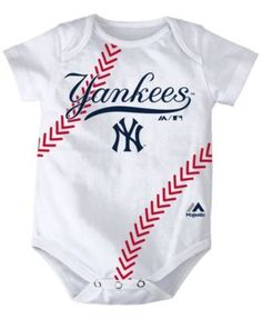 Outerstuff Babies' New York Yankees Three Strikes Bodysuit Set - Blue 18 months