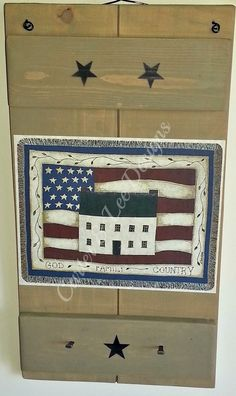 Primitive Wall Decor with Two Hooks www.countrystylecurtainsandamishfurniture.com