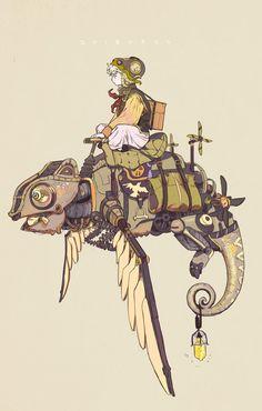 ilLUMIෆ͙⃛ෆ͙⃛ෆ͙⃛(@illumi99999) 님 | 트위터의 미디어 트윗 Fantasy Character Design, Character Design Inspiration, Character Concept, Character Art, Concept Art, Arte Steampunk, Steampunk Artwork, Steampunk Characters, Fantasy Characters