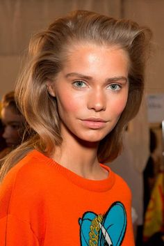 Best Hair MFW A/W 2015 | Hair stylist: Paul Hanlon   Key products: TIGI Bed Head Superstar Queen for a Day, L'Oreal Paris Elnett Hairspray  Top tip: Keep hair undone and bedhead-y by flicking over to one side with your hands so there's no definite parting.
