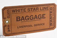 *TITANIC ~ A 3rd class boarding ticket