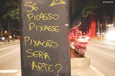 """Uma provocação para discutir arte, grafite e """"pixação"""" em sala de aula."""