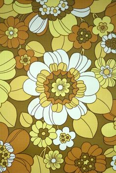 Vintage Retro Floral Wallpaper