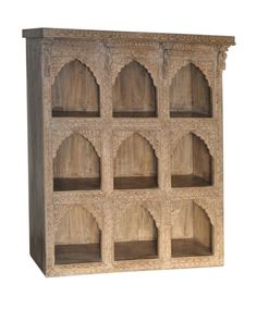 hand carved whitewashed indian shelves, shabby chic, on shopnectar.com