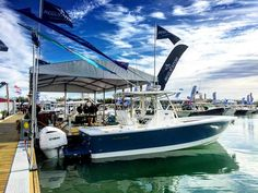 Gorgeous day at the Miami boat show! #regulatormarine #offshorelife #sovyachts by sovyachts