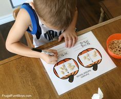 Pumpkin Number Bonds Addition Activity – Frugal Fun For Boys and Girls