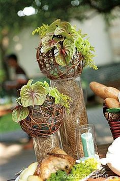 Put some of these on some of the tables instead of flowers, just to mix it up a little!