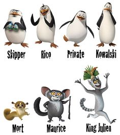 madagascar characters - Google Search