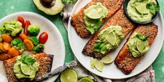 Creamy Avocado Lime Salmon Horizontal