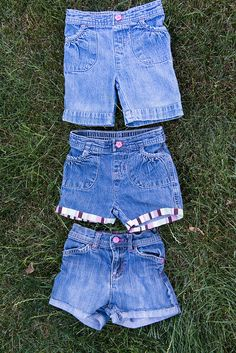 Turn old jeans into shorts.  My first guest post. :)