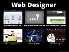 What I really do - Web Designer