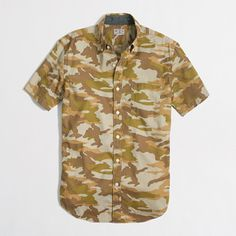 2e6798d8 J.Crew Factory - Factory short-sleeve printed washed shirt Discount Mens  Clothing,