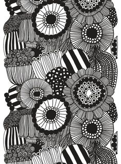 Siirtolapuutarha HW cotton fabric by Marimekko Motifs Textiles, Textile Patterns, Textile Prints, Textile Design, Textile Art, Fabric Design, Print Patterns, Floral Design, Art And Illustration