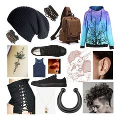 """""""uHH"""" by mikailaclonts on Polyvore featuring Tripp, White House Black Market, Black, Converse and Gap"""