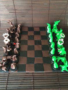 Xadrez com personagens da mitologia de Lovecraft