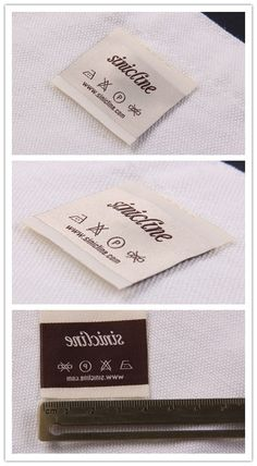 Sinicline new design: woven care labels.   #wovenlabel #carelabels   Follow @sinicline for more packaging and labeling designs. Hangtag Design, Label Design, Fabric Labels, Clothing Labels, Packaging Ideas, Printing Labels, Poodle, Claire, Mattress