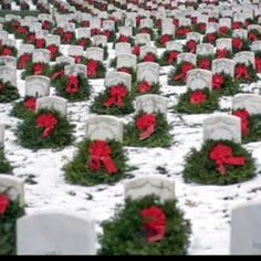 Arlington Cemetery at Christmas...a truly spectacular site...I'll never forget it!