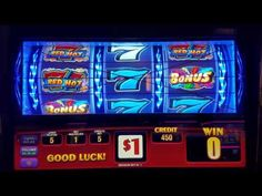 TRIPLE RED HOT 777 SLOT MAX BET  LIVE PLAYBONUS   Slot Machine Bonus