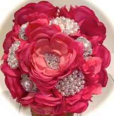 Bridal Brooch Bouquet Bridal Heirloom by TheLittleHatterbox